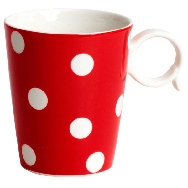 Red Vanilla Freshness Mix & Match Red (Set of 4 Mugs)