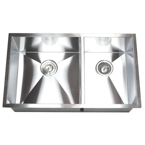 Double Bowl 60/40 32-inch Undermount Kitchen Sink