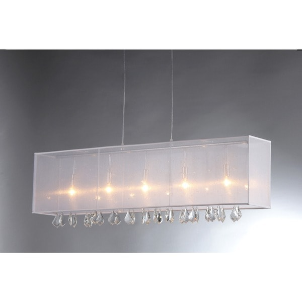 'Jess' Crystal and Mesh Bar Chandelier