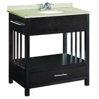 Design House 1-Drawer Ventura Espresso Console Vanity Cabinet