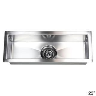Stainless Steel Sink Cost : Stainless Steel Undermount Kitchen Prep Bar Sink - Overstock ...