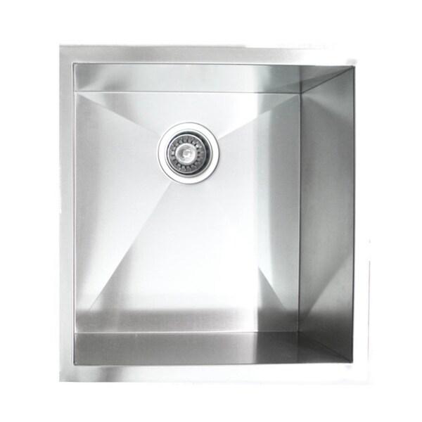 19-Inch Undermount Stainless Steel Kitchen Bar Sink - 15532952 ...