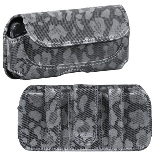 INSTEN Silver/ Grey Watermark Horizontal Pouch for Samsung A897/ R860