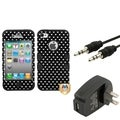 BasAcc Wall Charger/ Audio Cable/ Heart Case for Apple iPhone 4/ 4S