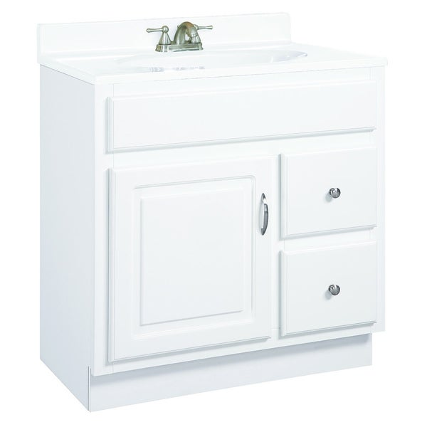 Design House Concord 2-drawer White Gloss Vanity Cabinet