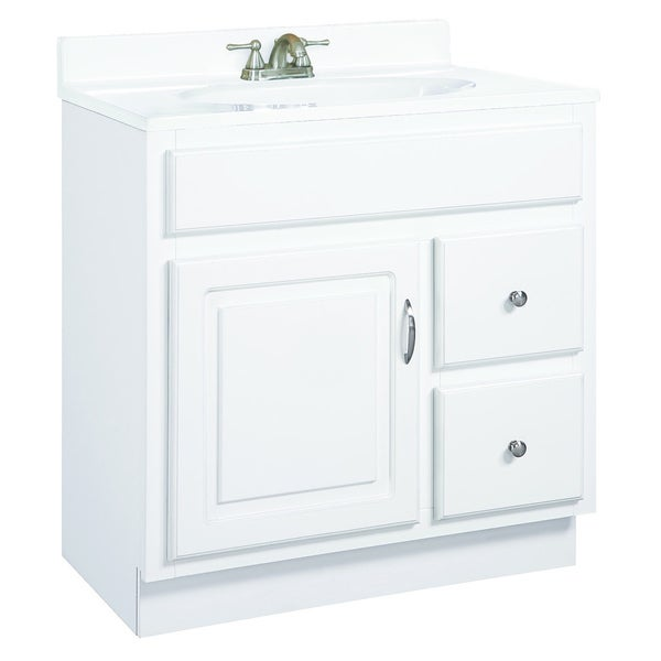 Design House Concord White Gloss 2-Drawer Vanity Cabinet