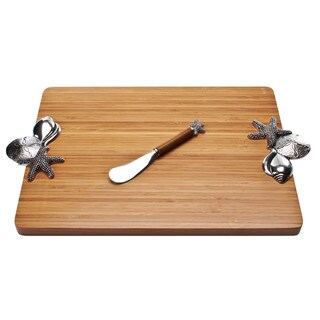 Sea Shell Handles Serving Board and Spreader Set