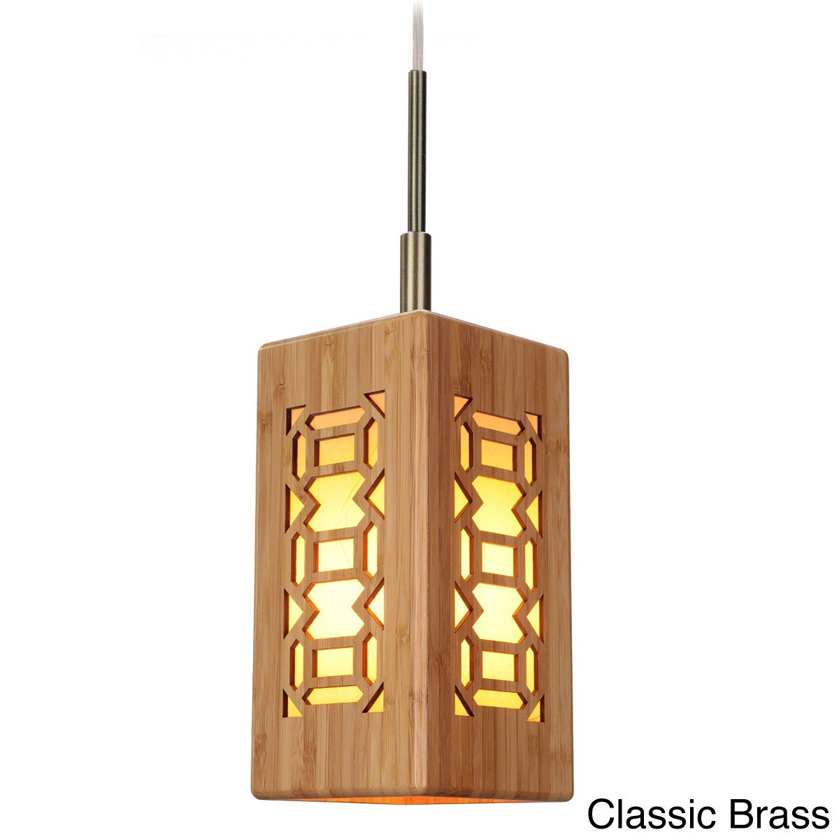 Lighthouse 1-light Triune Bamboo Mini Pendant