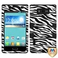 BasAcc Zebra Skin/ Black TUFF Hybrid Case for LG US730 Venice