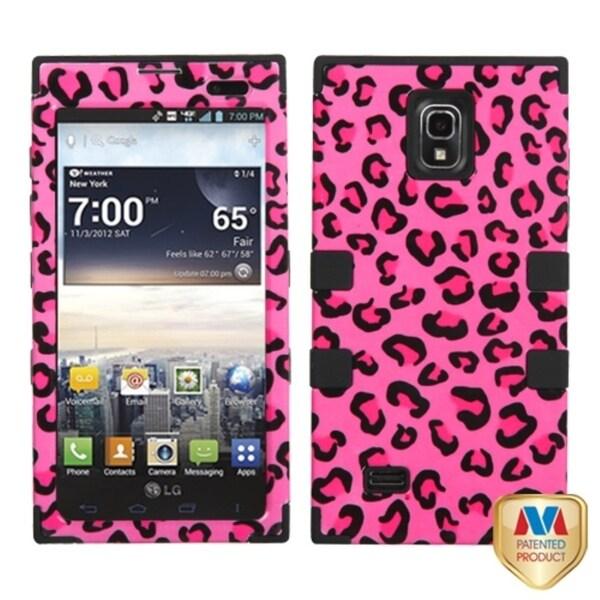 BasAcc Pink Leopard Skin/ Black TUFF Case for LG VS930 Spectrum 2