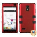 BasAcc Titanium Red/ Black TUFF Hybrid Case for LG P769 Optimus L9