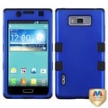 BasAcc Titanium Dark Blue/ Black TUFF Hybrid Case for LG US730 Venice
