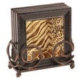 Ambiance Jungle Tropics Bronze Drink Coaster/ Holder Set