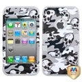 BasAcc Gray Skull Camo/ Gray TUFF Hybrid Case for Apple iPhone 4/ 4S