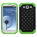BasAcc Black/ Electric Green Lattice Case for Samsung Galaxy S3 i9300