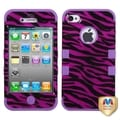 BasAcc Black/ Electric Purple TUFF Hybrid Case for Apple iPhone 4/ 4S