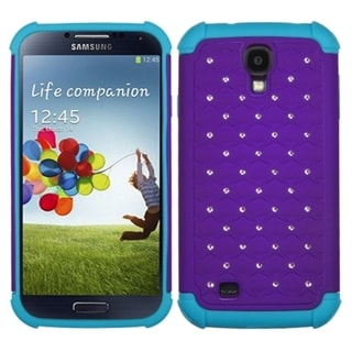 BasAcc Purple/ Tropical Teal Lattice Case for Samsung Galaxy S4 i9500