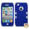 BasAcc Titanium Dark Blue/ Grey TUFF Case for Apple iPhone 4/ 4S