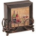 Ambiance Tuscany Bronze Drink Coasters and Holder Set