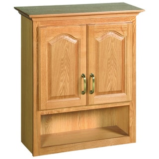 Design House Richland Nutmeg Oak 2-Door Bathroom Wall Cabinet