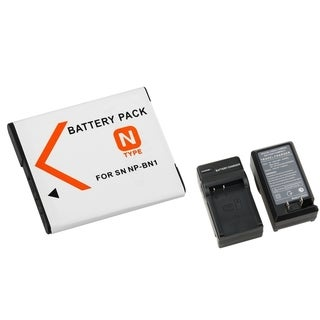 BasAcc Li-ion Battery/ Charger for CyberShot W Series/ T Series DSC