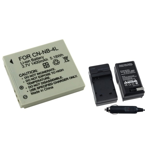 INSTEN Battery/ Chargers for Canon SD1000/ SD1100IS/ SD1400IS/ SD200