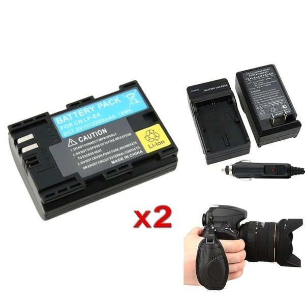 INSTEN Battery/ Charger/ Strap for Canon EOS 7D/ 60D/ 5D/ LPE6