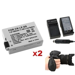 INSTEN Battery/ Strap/ Charger for Canon LP-E8/ EOS 550D/ 600D/ T3i