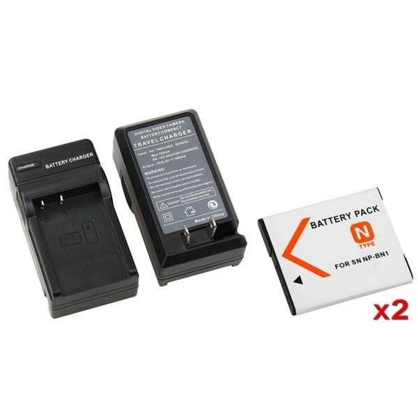 INSTEN Li-ion Battery/ Charger for CyberShot W Series/ T Series DSC
