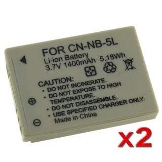 BasAcc Battery for Canon Powershot SX200 IS/ SX210 IS/ NB-5L (Pack of 2)