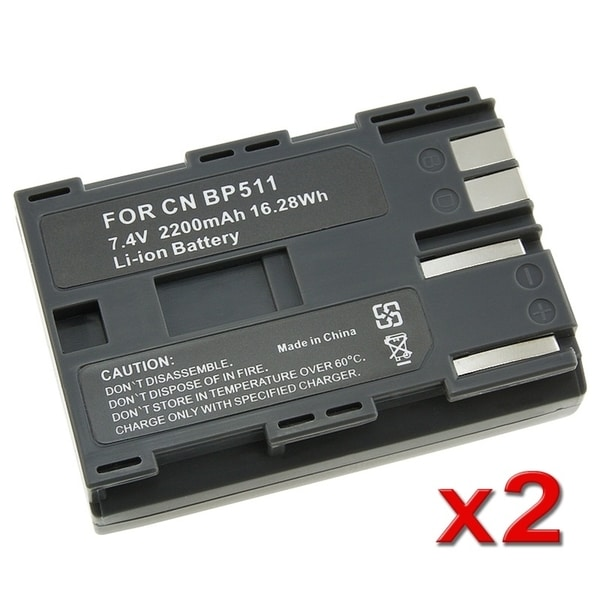 INSTEN Battery for Canon BP-511/ BP-508/ BP-512/ BP-522 (Pack of 2)