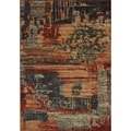 Eternity Striped Blue Rug (3'11 x 5'7)