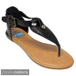 Blue Women's Belted Sandals
