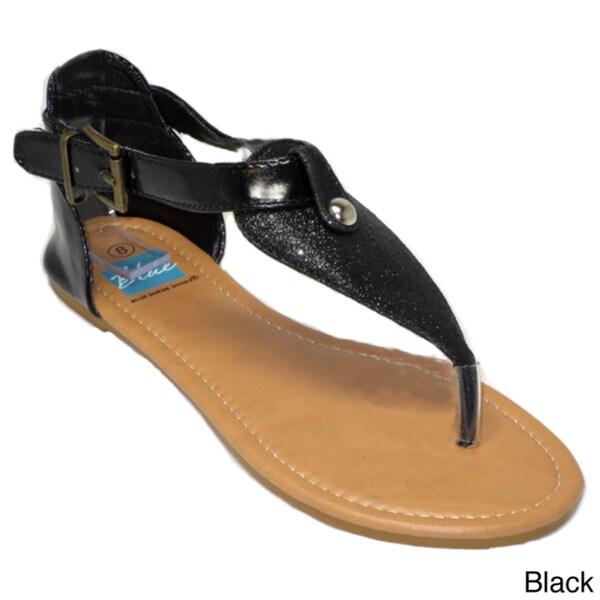 Blue Women's Belted Sandals
