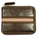 BRAND Fashion Men's Bi-fold Brown Leather Wallet