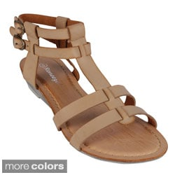 Reneeze 'CHRIS-02' Women's Low Heel Sandals