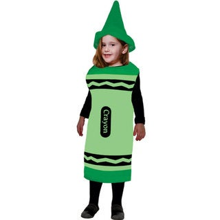 Childrens Green Crayon Costume