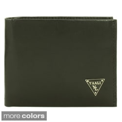 YAALI Men's Leather Bi-fold Wallet