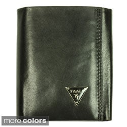 YAALI Men's Leather Tri-fold Wallet