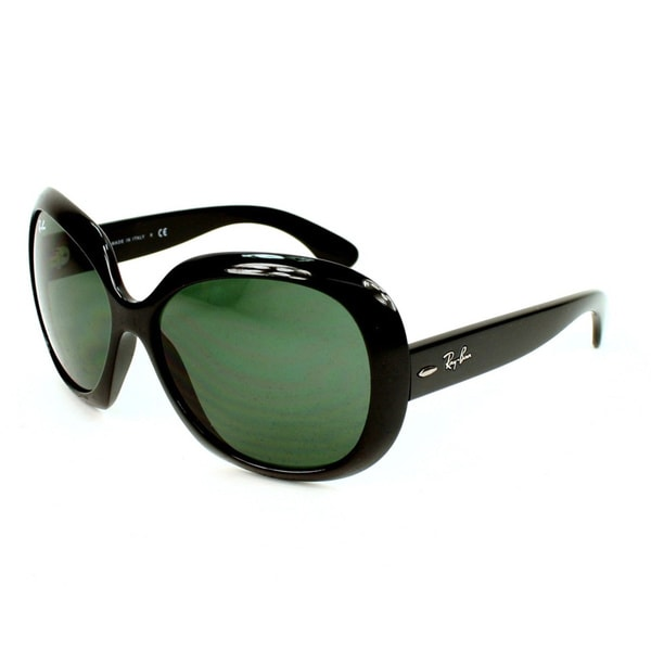 Ray-Ban RB4098 Jackie Ohh II Black/ Green Sunglasses