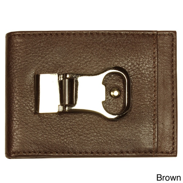 YL Men's Money Clip Leather Wallet
