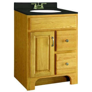 Design House Richland Nutmeg Oak 2-Drawer Vanity Cabinet