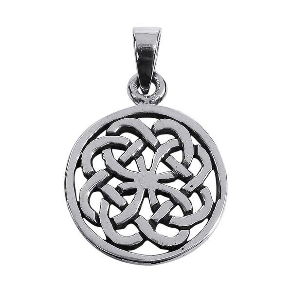 Encircled Celtic Knots .925 Sterling Silver Pendant (Thailand)
