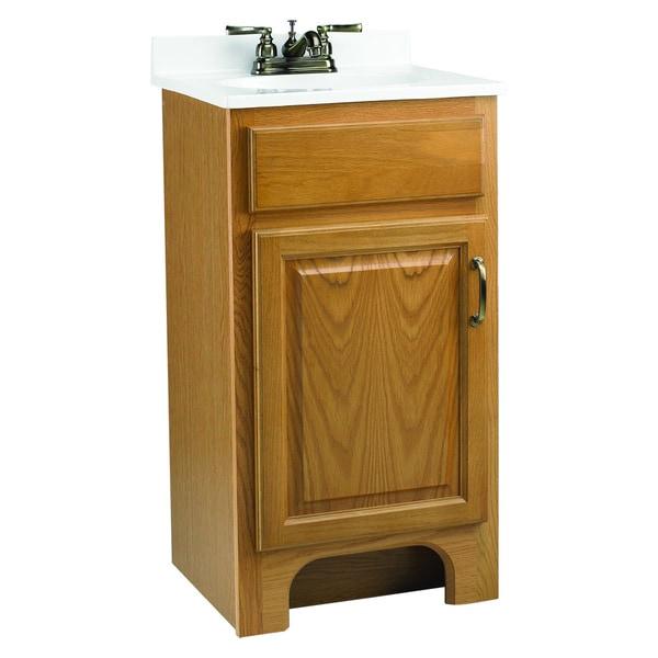 Design House Richland Nutmeg Oak 1-Door Vanity Cabinet