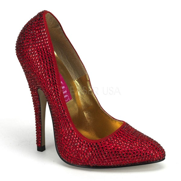 Bordello Women's 'SCANDAL-620R' Rhinestone Pumps
