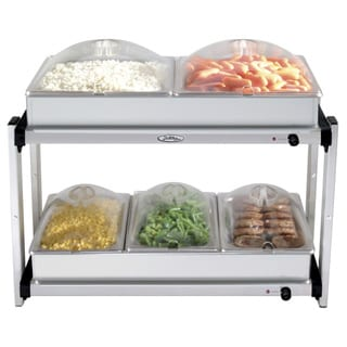 Broil King Professional Multi-Level Stainless-Steel Buffet Server with Plastic Lids