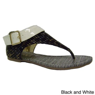 Luv's Women 'Bali' Two-tone Buckled Sandals