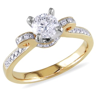 Miadora 14k Yellow Gold 1ct TDW Diamond Engagement Ring (G-H, I2-I3)