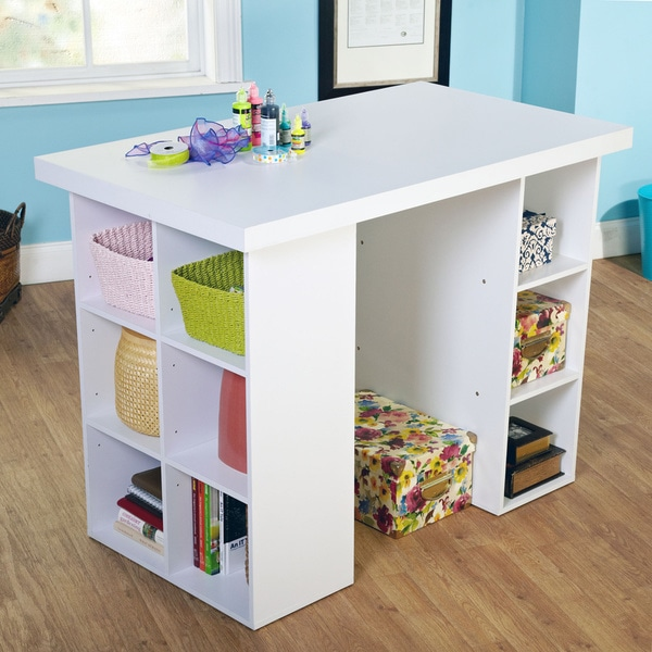 Simple living counter height craft table 15533684 overstock com