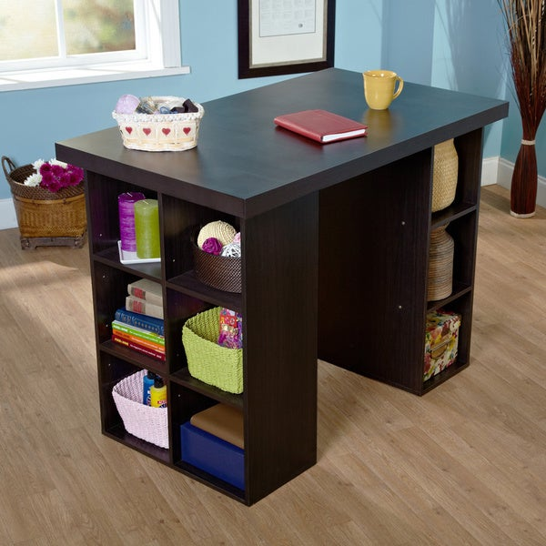 Counter Height Work Station : ... counter desk work espresso this craft table organizer counter height